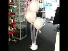 Helium Balloon Bouquet with Tulle & Fairy Lights by The Party's Here