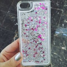 Waterfall iPhone case iPhone 5/5s phone case. Super cute silver iridescent and pink stars and glitter . No brand Brandy Melville Accessories Phone Cases