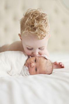 Sibling Newborn Photo