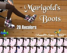 Marigold's Combat Boots Recolors at Annett's Sims 4 Welt • Sims 4 Updates