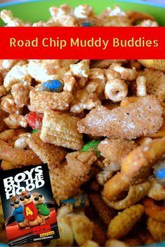 Road Chip Muddy Buddies- MommySnippets.com