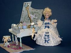 OOAK Poseable Miniature Dollhouse Doll by LoreleiBlu on Etsy, $75.00