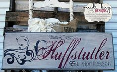 Vintage Wedding Sign Personalized Family Name by MadiKayDesigns, $59.99