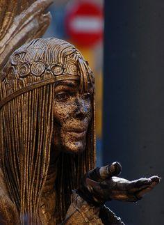 Barcelona, Human Estatua en Las Ramblas