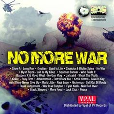 No More War Riddim is a brand new reggae juggling from Bonner Cornerstone Music which features Richie Spice, Bascom X, Gyptian, Spanner Bann...