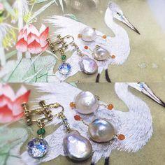 Pearl earrings ~  # Handmade #  Style de Française