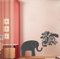 Chalkboard Elephant 2 Customizable Wall Decal