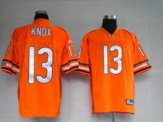 Bears #13 Johnny Knox Orange Stitched NFL Jersey