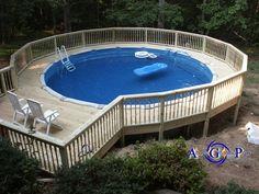 24 Round Pool Deck Plans Pool Decks Pool Ideas Pool