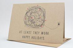 Christmas Cards / Christmas Card Set / Holiday Card Set / Christmas Tangled Lights Card Pack on Etsy, £13.10
