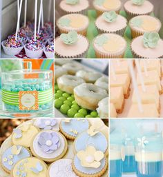 Ideas para mesas de dulces para una fiesta comunión, en blog.fiestafacil.com / Ideas for first communion party sweet tables, in blog.fiestafacil.com