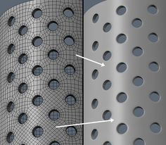 Holes in Hard Surface Modeling - Result Maya Modeling, Modeling Tips, Blender 3d, Zbrush, Polygon Modeling, 3d Things, Hard Surface Modeling, Sculpting Tutorials, 3d Mesh