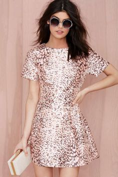 Nasty Gal On the Prowl Fit and Flare Dress