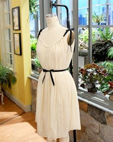 Cute dress made from an elastic waist skirt. Maybe for Shannon.