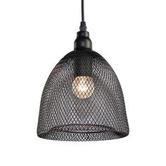 LNC Industrial Pendant Lights for Kitchen Island, Dining Room, Living Room, Mesh Cage Shade