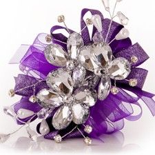 cool prom corsage   Sparkling Acrylic Flowers Prom Corsage in Purple