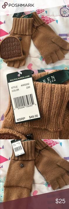 Ralph Lauren wool gloves/mittens ! Ralph Lauren merino wool, leather  gloves/mittens ! Fit S/M size Lauren Ralph Lauren Accessories Gloves & Mittens