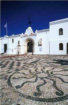Panagia Evangelistria legendary Church courtyard made of pebbles, Tinos Island , Greece Pebble Floor, Pebble Mosaic, Crete Greece, Mosaic Garden, Greek Art, Conceptual Art, Greek Islands, Planet Earth, Garden Paths