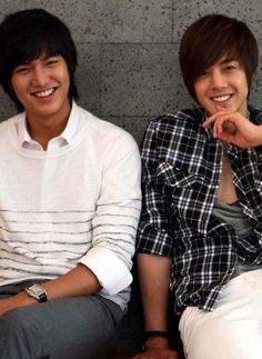 Besties 4eva. Loff for you, okay? No way. Oh please? Come on. Lee Min Ho and Kim Hyun Joong