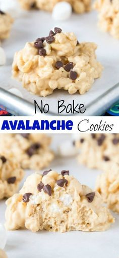 Easy No Bake Avalanche Cookies – just 4 ingredients and 5 minutes to make this c… Easy No Bake Avalanche Cookies – nur 4 Zutaten und 5 Minuten, um diese Cookie-Version von Rocky Mountain Chocolate Factorys Avalanche Bark zuzubereiten! Best Cookie Recipes, Healthy Dessert Recipes, Baking Recipes, Delicious Desserts, Recipes Dinner, Pasta Recipes, Sweet Recipes, Crockpot Recipes, Soup Recipes