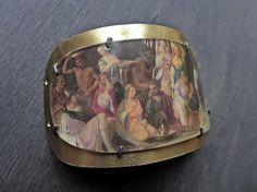 Artisan bracelet focal connector- Woodland Feast
