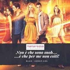Teen Drama moderno con protagoniste Serena e Blair. Modaiolo, Sopra le righe. Quale personaggio saresti tu? #Diccilatua #nanarossa
