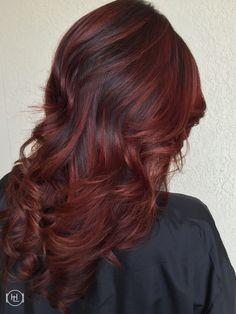 Red Balayage @hairlegacy Inc hair by:Emilio V.