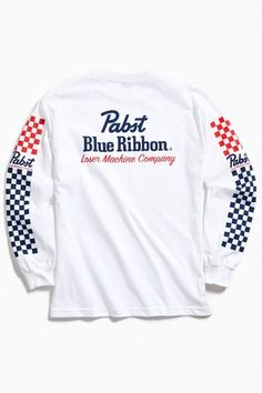 Graphic Tees, Tops, + Hoodies for Men Motto, New Man Clothing, Pabst Blue Ribbon, Tee Design, Apparel Design, Shirt Style, Cool Outfits, Long Sleeve Tees, Shirt Designs