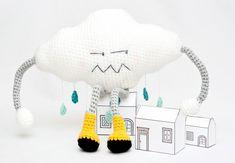 Gallimelmas and Imaginancias: Free Patterns: Let it rain, let it rain . Love Crochet, Crochet For Kids, Diy Crochet, Crochet Toys, Crochet Baby, Amigurumi Tutorial, Amigurumi Patterns, Crochet Patterns, Baby Headbands