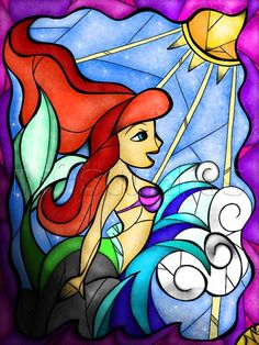 Ariel  Stained Glass, by Mandie Michel