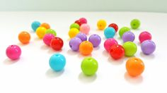 Multicolored 8mm Round Acrylic Beads.   Fun and Funky!!   8mm in Size.   30 Pretty Beads.  Great Beads At Great Prices!! by FunkyCreativeJuices on Etsy
