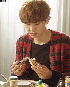 Chanyeol's beagle puppy dog eyes that you just can't refuse. <3