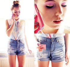 Romwe Shirt, Sheinside Shorts