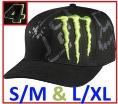 free shipping 322f2 6ebe3 FOX RACING MONSTER ENERGY DRINK Mens FLEXFIT MX BASEBALL S M L XL HAT