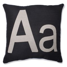 Give your home a personalized touch with our initial throw pillow. Measuring 18-inches of plush style and comfort, this throw pillow is a wonderful monogrammed addition to furnishings. Corded trim and knife-edge closure completes the durable construction.