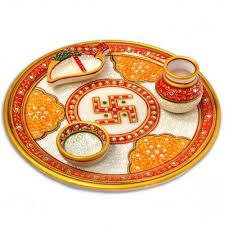 Image result for aarti thali decoration in navratri
