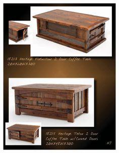 Green Gables Heritage Designs Designs; Barnwood Coffee Table; Rustic,  Cabin, Lodge,