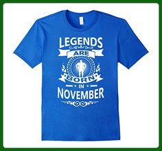 Mens C345 LEGENDS ARE BORN IN NOVEMBER Gym TShirt Workout Fitness Large Royal Blue - Workout shirts (*Amazon Partner-Link)