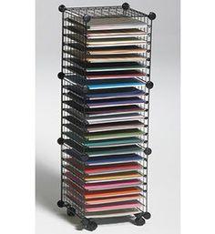 Amazon.com: Scrapbook Paper Storage Cube System: Home & Kitchen