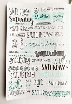 Bullet Journal Weekly Headers For You To Copy Want some inspiration for your bullet journal? Try out these super easy weekly headers in your next spread in your journal! Check out this post to find creative bullet journal weekly header ideas for every day Bullet Journal School, Bullet Journal Headers, Bullet Journal Banner, Bullet Journal 2019, Bullet Journal Notebook, Bullet Journal Ideas Pages, Bullet Journal Inspo, Art Journal Pages, Bullet Journals