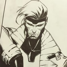 In show comission process #gambit #marvel #wizardworld #neworleans by jorge_molinam