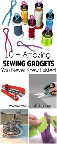 Check out these awesome gadgets! I have never seen some of these helpful sewing tools! I want them all! 10+ Sewing Gadgets You Never Knew Existed | www.sewwhataliicia.com