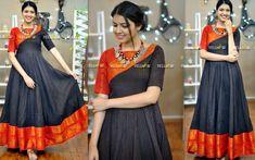 Salwar Designs, Half Saree Designs, Kurti Designs Party Wear, Long Gown Dress, Sari Dress, Long Frock, Long Dress Design, Blouse Neck Designs, Lehenga Gown