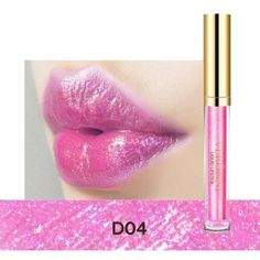 Glitter lip gloss ($10) ❤ liked on Polyvore featuring beauty products, makeup, lip makeup and lip gloss #makeuplips