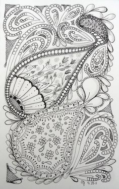 zentangles coloring pages   zentangles 088 Would LOVE to learn how to ...   Zentangle Patterns