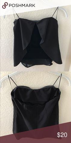Black bustier Black velvet bustier with overlay Zara Tops
