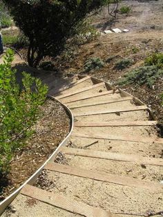 how to build wood steps on steep hill