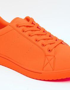 Immagine 4 di ASOS - Scarpe da ginnastica in neoprene arancione