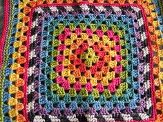 Colourful square | Just a granny square I made. I really lik… | Flickr