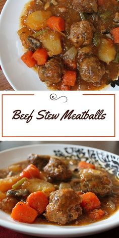 Feel like beef stew but don't have time to let it cook all day? Try these Beef Stew Meatballs. All the flavor and comfort of beef stew in less time. www.maryellenscookingcreations.com
